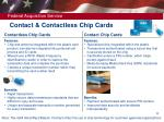 contact contactless chip cards