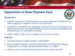 department of state payment card