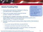 grants funding pilot