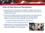 point of sale discount recognition