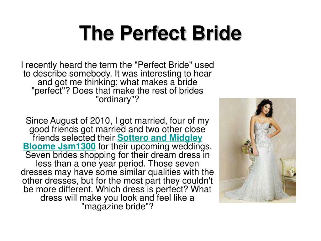 the perfect bride l.