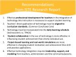 recommendations from iste research report