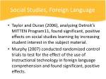 social studies foreign language