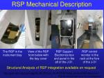 rsp mechanical description