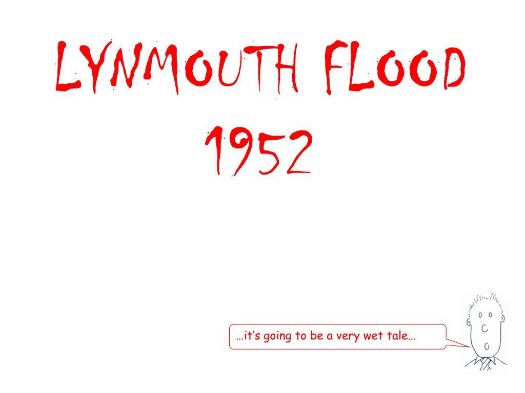 lynmouth flood 1952 l.