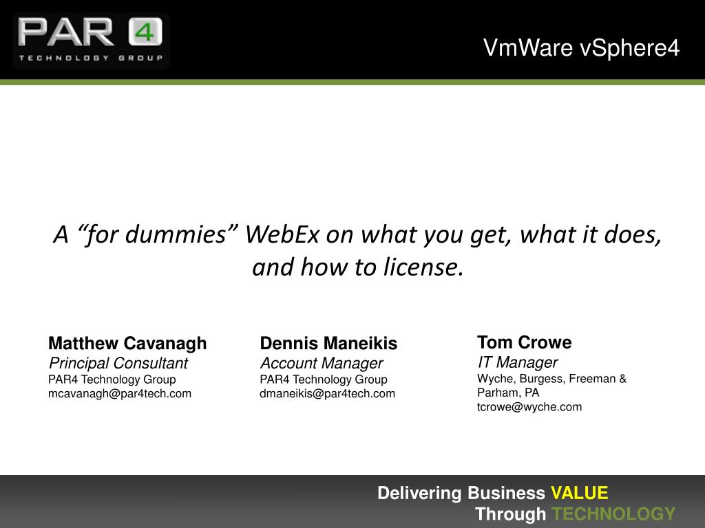 a for dummies webex on what you get what it does and how to license l.
