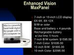 enhanced vision maxpanel