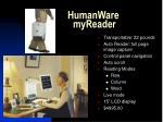 humanware myreader