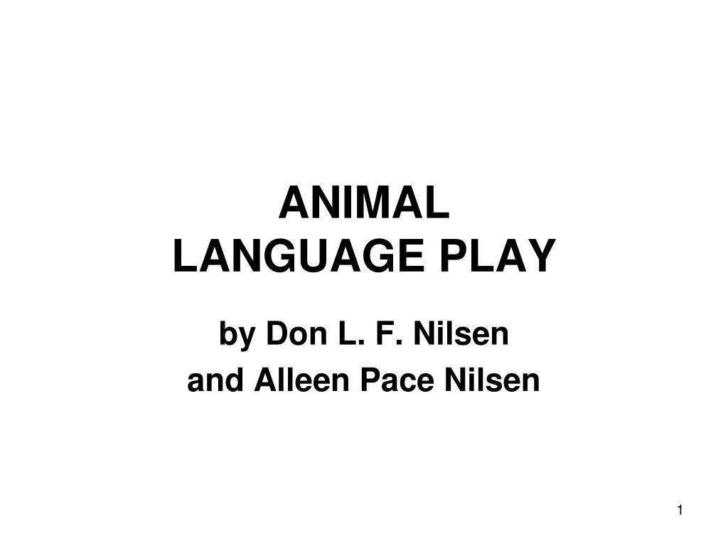animal language play l.