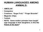 human languages among animals