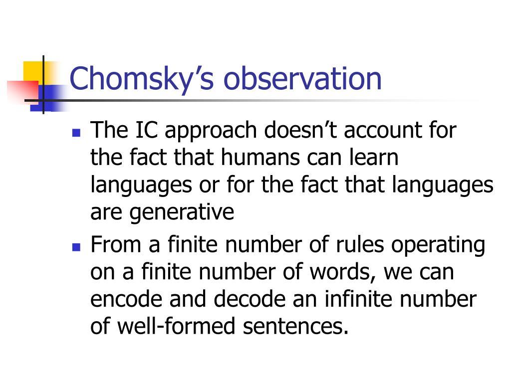 Chomsky's observation