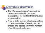 chomsky s observation