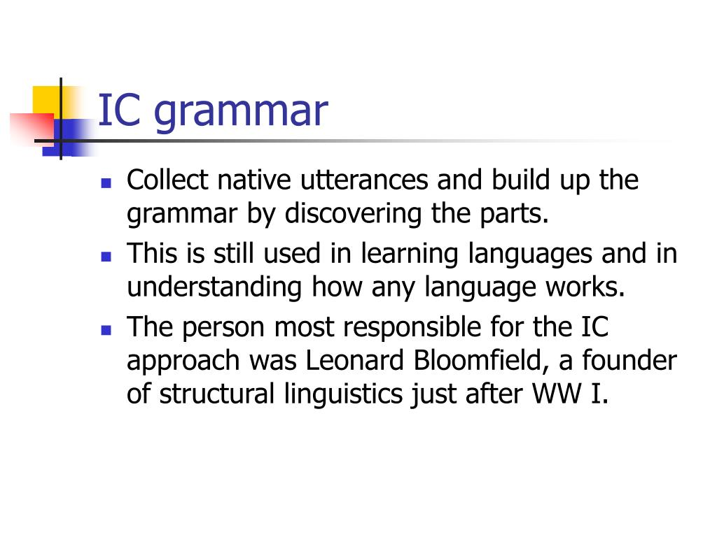 IC grammar