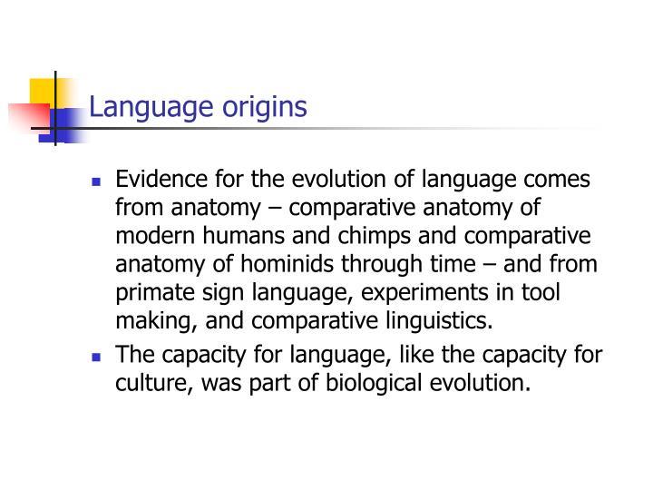 Language origins