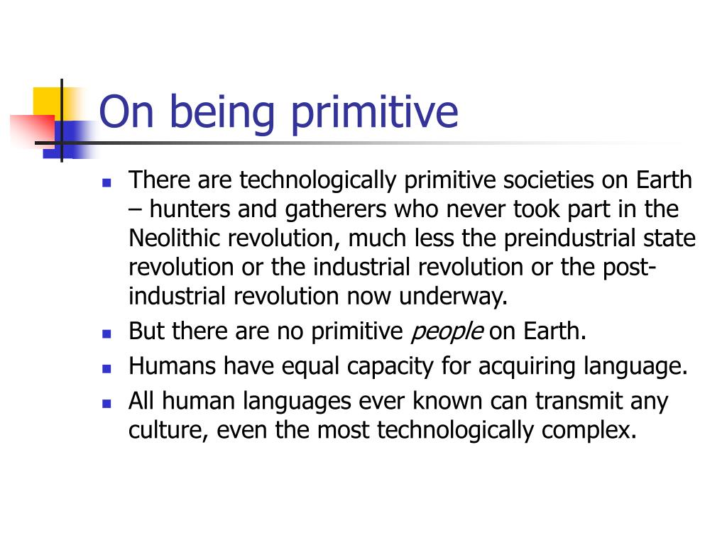 On being primitive
