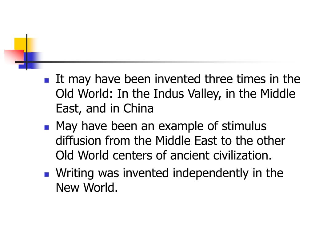 It may have been invented three times in the Old World: In the Indus Valley, in the Middle East, and in China