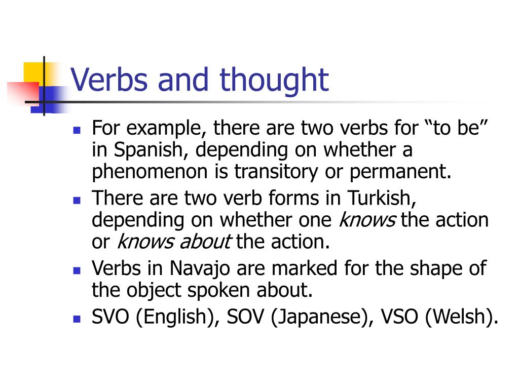 Verbs and thought