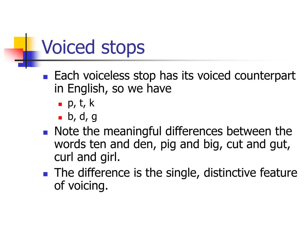 Voiced stops