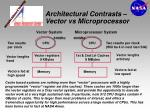 architectural contrasts vector vs microprocessor