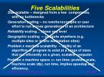 five scalabilities