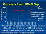processor limit dram gap