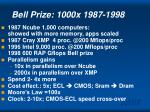 bell prize 1000x 1987 1998