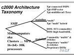 c2000 architecture taxonomy