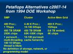 petaflops alternatives c2007 14 from 1994 doe workshop
