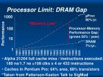 processor limit dram gap
