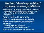 worlton bandwagon effect explains massive parallelism