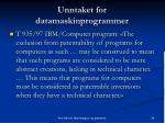 unntaket for datamaskinprogrammer