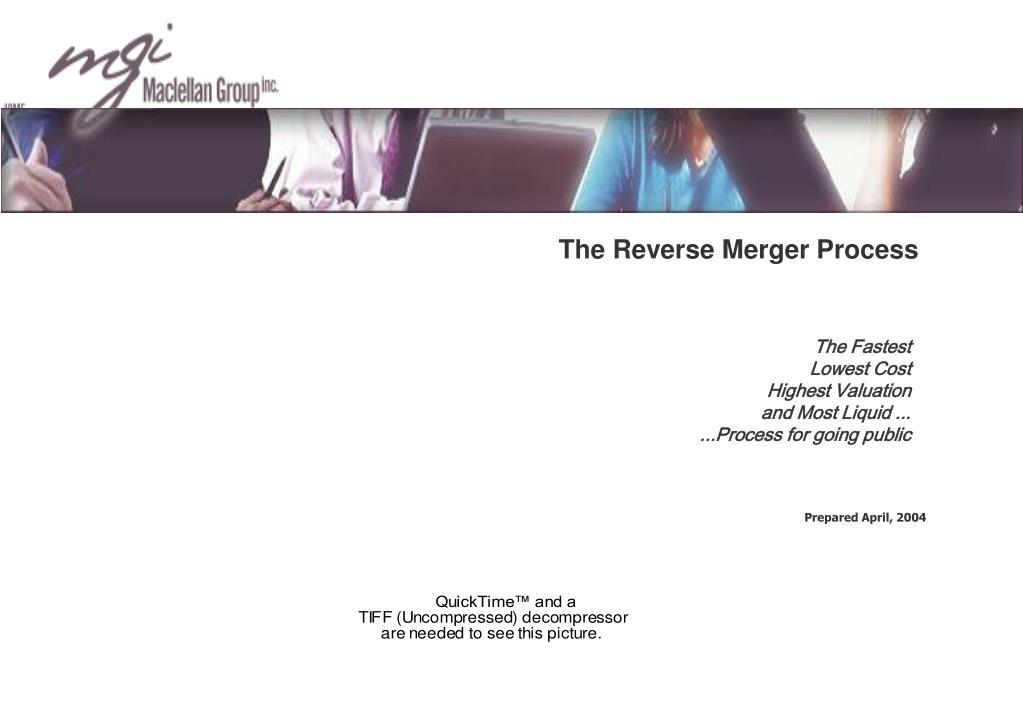the reverse merger process l.