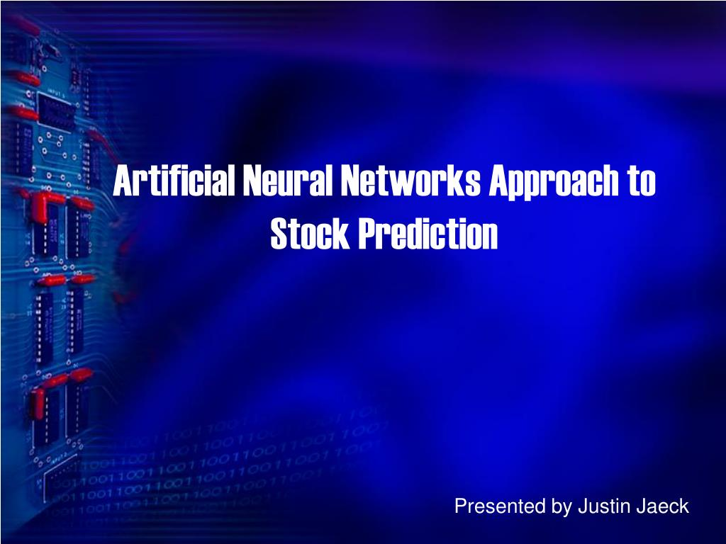 artificial neural networks approach to stock prediction l.