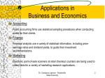 applications in business and economics