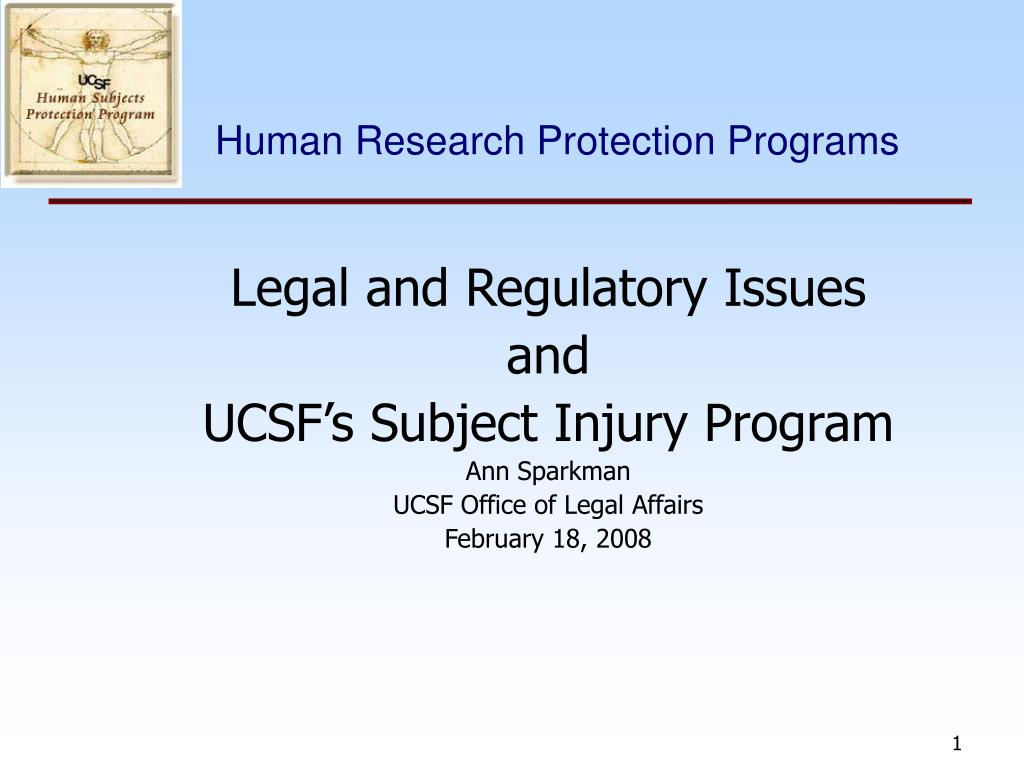 human research protection programs l.