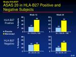 asas 20 in hla b27 positive and negative subjects