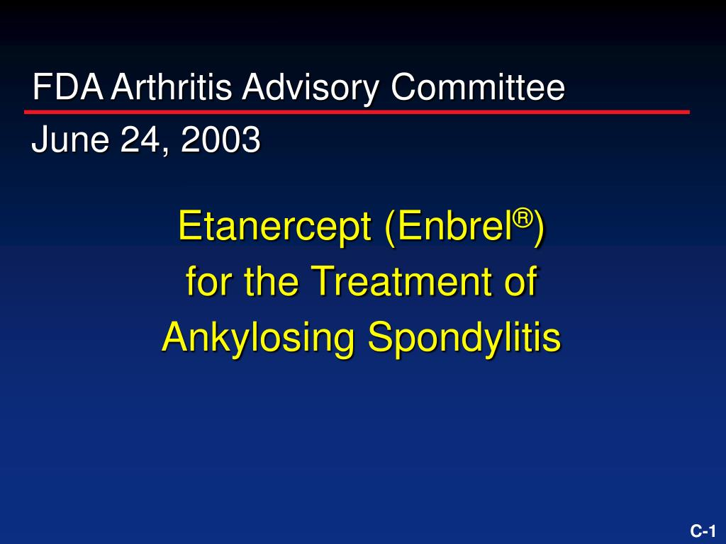 etanercept enbrel for the treatment of ankylosing spondylitis l.