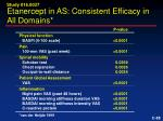 etanercept in as consistent efficacy in all domains