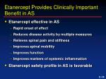 etanercept provides clinically important benefit in as
