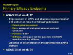 primary efficacy endpoints