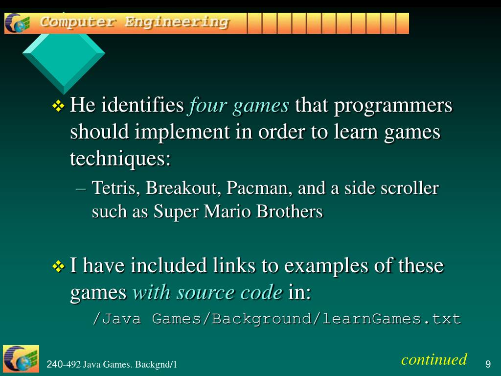PPT - Games Programming with Java PowerPoint Presentation - ID:19212