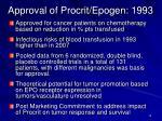 approval of procrit epogen 1993
