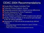odac 2004 recommendations