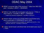 odac may 2004