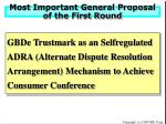 most important general proposal of the first round
