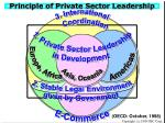 principle of private sector leadership