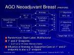 ago neoadjuvant breast prepare