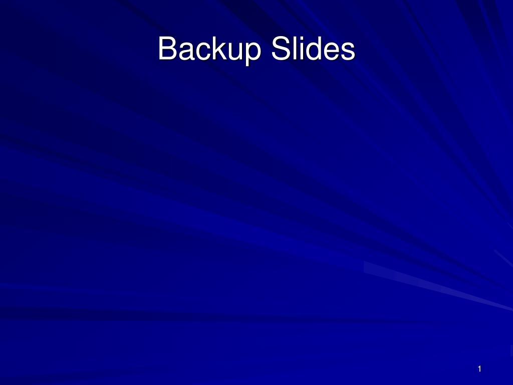 backup slides l.