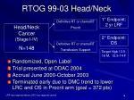 rtog 99 03 head neck