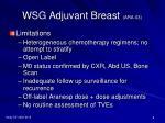 wsg adjuvant breast ara 038